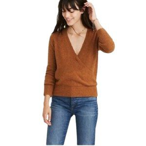 Madewell Faux Wrap Front Alpaca & Wool Sweater